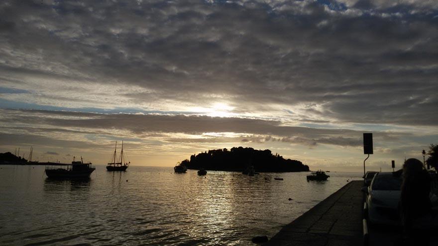 auftanken - abendlicher Meerblick