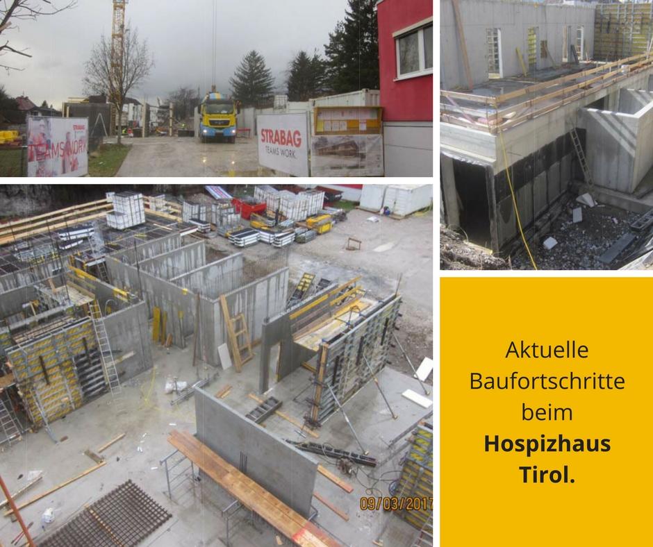 Infografik - Aktuelle Baufortschritte beim Hospizhaus Tirol