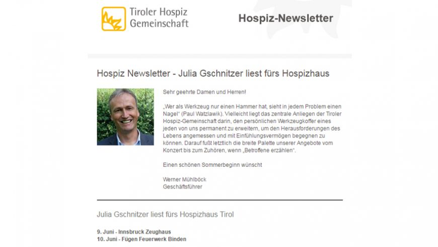 Newsletter - Julia Gschnitzer