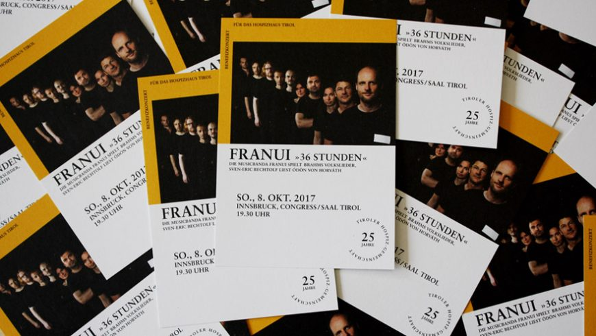 wir freuen uns ber jede und jeden der uns bei der bewerbung unseres benefikonzertes mit franui am 8 oktober untersttzt flyer zum verteilen knnen bei - Flyer Bewerbung