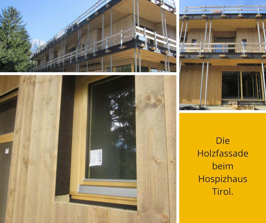 880 Infografik - Die Holzfassade beim Hospizhaus Tirol.